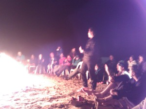 Sharing stories and ideas around the campfire, the opportunity for exchanged ideas is a real benefit of multiday runs.